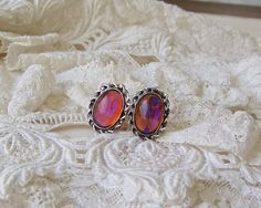 Vintage Sterling Silver with Pink Moonstone by cynthiasattic