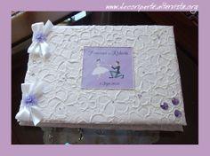 Lilac Hearts Wedding Guestbook
