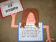 president/social studies - good for persuasive or opinion writing piece! Persuasive Writing, Teaching Writing, Writing Activities, Classroom Activities, Teaching Tools, Writing Ideas, Classroom Ideas, Teaching Ideas, Future Classroom