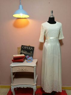 Check out this item in my Etsy shop https://www.etsy.com/il-en/listing/496843198/white-dressvintage-dressvintage-wedding