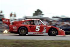 Porsche 935 of Bob Akin brakes for the Sebring hairpin in 1982. #porsche #motorsport