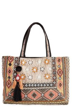Steven by Steve Madden 'Sabbie' Beaded Tote available at #Nordstrom