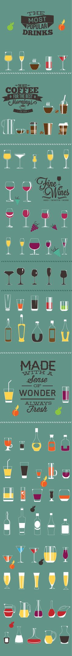 Flat elements by Adina Neculae, via Behance #infographic