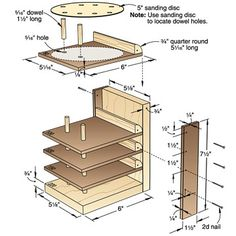 Flip-Up Sanding Disc Caddy Woodworking Plan