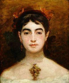 Marie Bracquemond, Self Portrait, 1870.