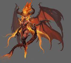 Fantasy Demon, Demon Art, New Fantasy, Fantasy Monster, Monster Art, Fantasy Warrior, Dark Fantasy Art, Fantasy Girl, Fantasy Artwork