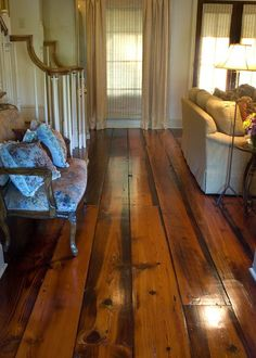This antique hardwood flooring is absolutely gorgeous.