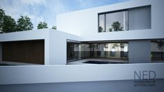 Projekt rodinného domu POD - NED ATELIER Modern House Design, Architecture Details, Bungalow, Home Goods, Living Spaces, New Homes, Nice Houses, Villas, Building