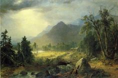The First Harvest in the Wilderness - Durand, Asher Brown - Hudson River School - Oil on canvas - Landscape - TerminArtors