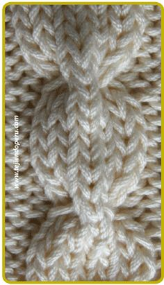 Trenza u ocho cadena . pinning several pictures of cables from this information-rich webpage Cable Knitting Patterns, Knitting Basics, Knitting Stiches, Knitting Videos, Knitting Designs, Knit Patterns, Crochet Stitches, Baby Knitting, Stitch Patterns