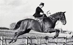 I love riding side-saddle. And in honor of Lady Margaret Fortescue.