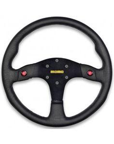 Momo Nero 350mm Tuning Racing Steering Wheel Black Leather Suede