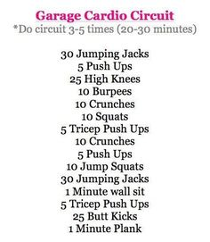 At home circuit workout