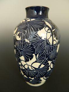 Ginkgo vase by Ken Tracy
