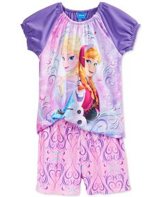 Frozen Girls' or Little Girls' 2-Piece Pajamas