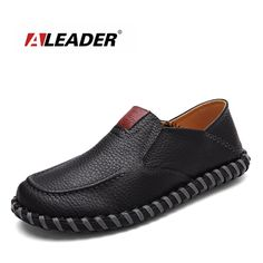 Good price Aleader New 2016 Leather Handmade Loafers Men Fashion Shoes Casual Soft Driving Shoes Men Moccasins Slip On Flat Male Sapatos just only $32.99 with free shipping worldwide  #menshoes Plese click on picture to see our special price for you