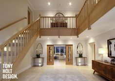 Tony Holt Design_Self Build_New Build_Maple Stairs Architecture, Architecture Design, Barn Conversion Interiors, Bungalow Conversion, Oak Frame House, Self Build Houses, Interior Stairs, Interior Ideas, Interior Design