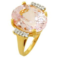 Beautiful Kunzite Ring from our Estate Jewelry Collection at the Gem Collection Jewelry Store in Tallahassee.