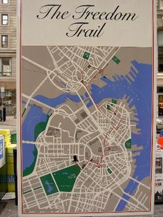 Map of downtown sightseeing in Boston  maps  Pinterest