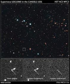 NASAs Hubble telescope finds distant supernova, clues to universe