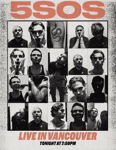 5 Seconds of Summer tour poster Michael Clifford, Calum Hood, Luke Hemmings, Pop Punk, 5 Seconds Of Summer, Poster Wall, Poster Prints, 5sos Concert, 5sos Wallpaper