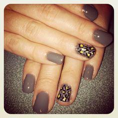 Animal print DIY #nails