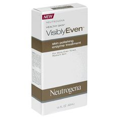 Neutrogena Healthy Skin Visibly Even Skin Polishing Enzyme Treatment, 1.4  Fluid Ounce (40 ml) by Neutrogena. $36.99. Instant improvement in the look and feel of your skin. Natural skin brightening enzymes with skin polishing micro-exfoliants. Micro-exfoliants help slough away rough dull  uneven. Dramaticly improves skin's texture, tone and overall complexion. Neutrogena visibly even skin polishing enzyme treatment is a dermatologist tested facial enzyme treatment ...