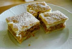 Falusi almás pite Hungarian Cake, Hungarian Recipes, Hungarian Food, No Bake Desserts, Healthy Desserts, Graham Crackers, Apple Pie, Food To Make, Quiche