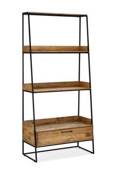 Buy Jefferson Ladder Shelf from the Next UK online shop Bookcase Shelves, Corner Shelves, Ladder Bookcase, Shelving, Shelf, Home Living Room, Living Room Furniture, Floor Mirror, Furniture Collection