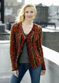 Side to Side Cardigan Free Knitting Pattern