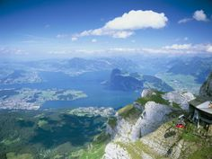 Mt. Pilatus over Lake Lucern- one of the most beautiful places I've ever seen.