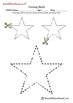 Cutting Shapes Worksheets (Many Different Shapes) Cutting Activities, Pre K Activities, Learning Activities, Preschool Printables, Preschool Worksheets, Preschool Activities, Aussie Childcare Network, Shapes Worksheets, Free Worksheets