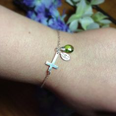 Sideways sterling silver cross BRACELET   by TheFabulousJewelry, $37.99
