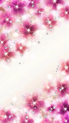 Flores rosadas y brillantes | Sparkly pink flowers - #fondos #backgrounds #wallpapers ✨