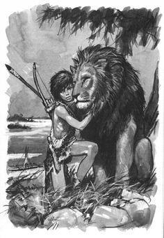 Yug, 1958 (Written by Guy de Larigaudie) illustrated by Pierre Joubert Medieval Fantasy, Dark Fantasy, Fantasy Art, Character Concept, Concept Art, Character Design, Boy Drawing, Figure Drawing, Illustrations