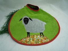 Lätzchen - Latz mit Schaf, XL - ein Designerstück von trullafabrik bei DaWanda