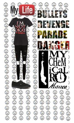 """""""My Chemical Romance~Kay"""" by x-punk-and-band-stuff-x ❤ liked on Polyvore"""