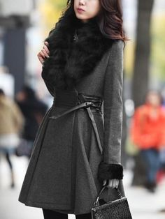 Designed Casual Long Sleeve Overcoat - stylishplus.com