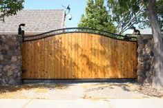 wooden and iron gate - Google Search