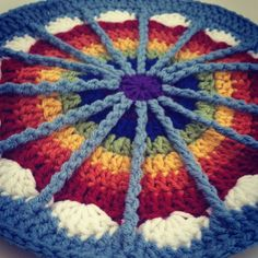 This rainbow #crochet contribution to #MandalasForMarinke from Cherity is on the #crochetconcupiscence blog now to raise #depressionawareness and celebrate #craftastherapy