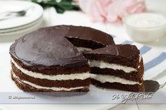 Torta al cioccolato con crema al latte, ricetta   Ho Voglia di Dolce