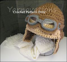 Aviator Hat Set by Yarn Twins.  @Alison Kidd, I'm sorry I didn't make a pair of goggles, too!