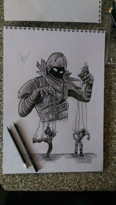 Fornite Skin Raven Drawing Dessin Corbeau Epic Game Trucs
