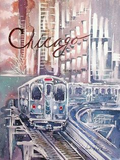 [ Chicago Art Gallery the leigh gallery: watercolors ] Chicago Art Galleries, Chicago Poster, Watercolor Postcard, Chicago Skyline, My Kind Of Town, Pints, Culture Travel, Nature Wallpaper, Beach Trip