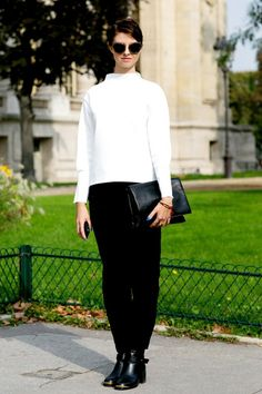 Street Style: Black and White | Popbee - a fashion, beauty blog in Hong Kong.