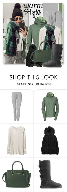 """""""Warm & Cozy Style"""" by brendariley-1 ❤ liked on Polyvore featuring Zoe Karssen, The North Face, Uniqlo, Eugenia Kim, MICHAEL Michael Kors, UGG and Ray-Ban"""