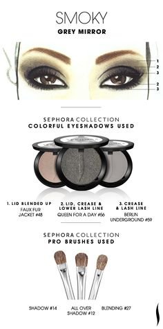 SMOKY: Grey Mirror HOW TO #sephoracollection #sephora #eyeshadow #makeup #SephoraSweeps