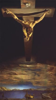 Jesus Crucified - Dali Christ of St John of the Cross Art Print Poster 13 x Salvador Dali, Catholic Art, Religious Art, Jesus Tattoo, Pictures Of Jesus Christ, Jesus Painting, The Cross Of Christ, Jesus Cross, Cross Art