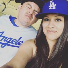 THINK BLUE: Dodger game! Home win! by yvonne27_m
