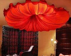 Купить товарКитайский юго восточная азия ткань морской ткань раковины потолок лёгкие творчество искусство лампа спальня гостиная в категории Потолочные светильникина AliExpress.        Размер: d60cm, H14cm                 D80cm, H16cm                 Свет держатель: E27 * 5-6 AC110-240V лампочки п